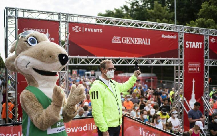 Berliner Halbmarathon. Berlin, Deutschland, 22.08.2021.